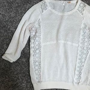 Knitted & Knotted Anthro Embroidered Knit Sweater